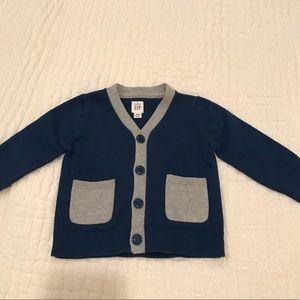 Gap Baby Navy Blue & Grey Cardigan